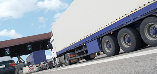 Lorries at a toll