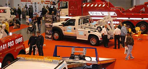 Vehicles at tow show garage expo event