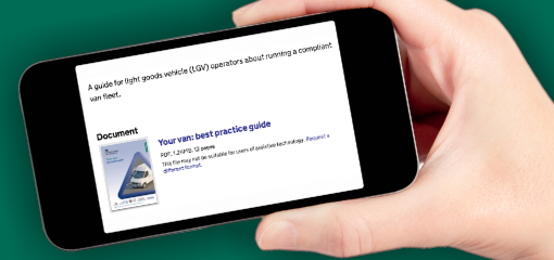 Smart phone downloading guides from GOV.UK