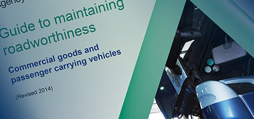 Close up of the cover of the Guide to Maintaining Roadworthiness