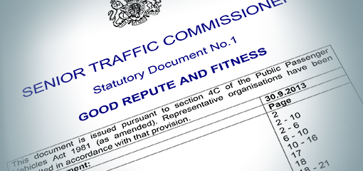 Senior Traffic Commissioner document letterhead
