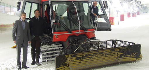 Snow plough at the Snozone 3 workshop