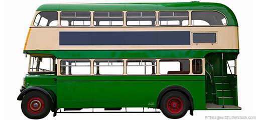 Vintage double deck bus