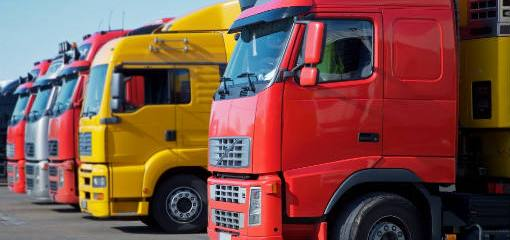 Red-yellow-lorries
