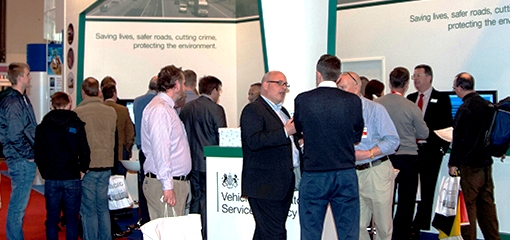 DVSA staff at the Commercial Vehicle event