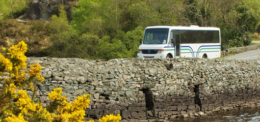 Bus on a rural road copy