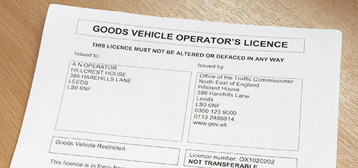 Goods vehicle operator's licence