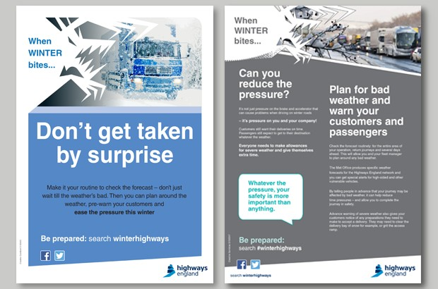 Two of the posters available from Highways England