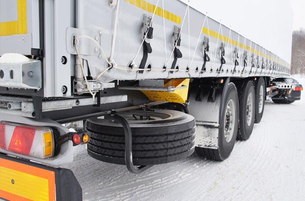 Lorry on snow