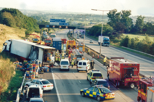 An accident in 2002 caused by a driver who exceeded his hours. 4 people were killed and the driver was jailed for 5 years.