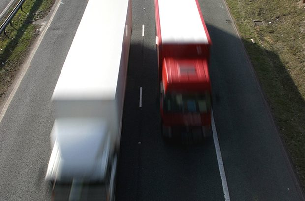 Two lorries on a motorway